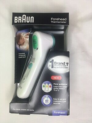 New Braun Forehead Thermometer BFH175 Adults Children Infants Batteries Included