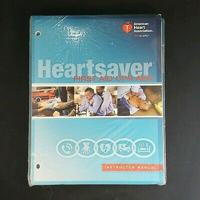 AHA 2015 Guidelines Heartsaver First Aid CPR AED Instructor Manual Disc SEALED