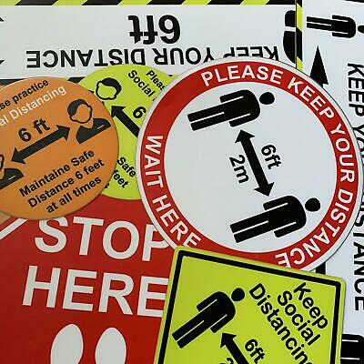 Social Distancing Floor Graphics Sticker Safe Distance. Proud Made In Usa