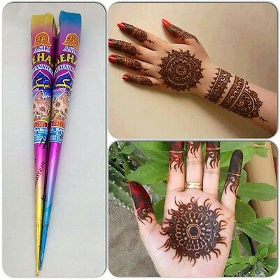 Henna Mehak Mehndi Cone Tattoo Kit Cone Pen Handmade Fresh Pack Ready To Desing
