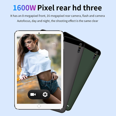 """10"""" Inch 4G-LTE Android 10.0 Tablet PC HD 8+128G WIFI Triple Camera GPS Phablet"""