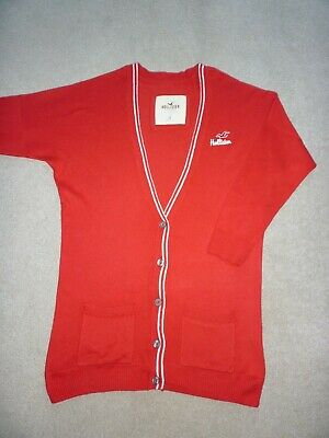 Girls Red Hollister Cardigan - Size Small - Excellent Condition