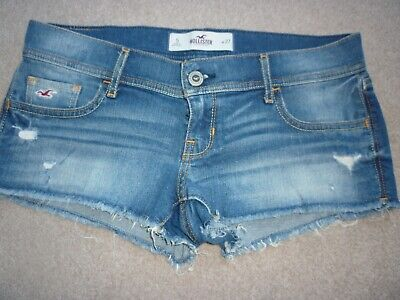 Girls Ripped  Hollister Denim Shorts  - Size 5/W27 - Excellent Condition
