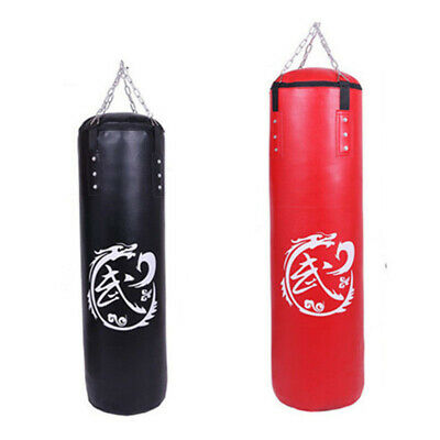 Heavy Boxing Punching Bag Speed Training Kicking MMA Adult Workout W/ Chain Hook