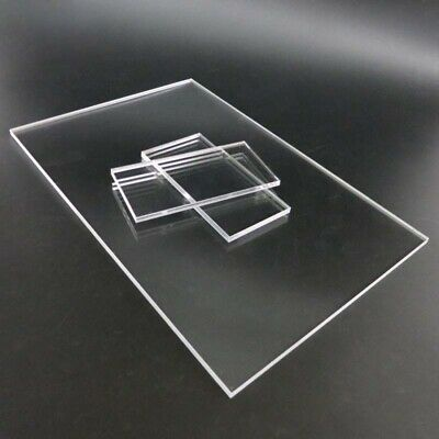 CLEAR ACRYLIC SHEET A7 SELECT THICKNESS 1.5mm TO 25mm Size 105x74mm