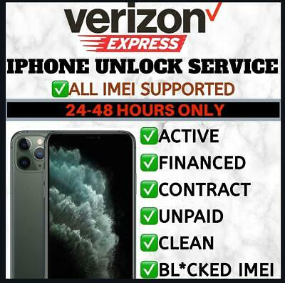 VERIZON PREMIUM FACTORY UNLOCK SERVICE iPhone 11 Pro Max iPhone 11 Xs X Xr 8+ 8