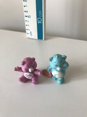 Vintage 1980's Care Bears  Figures ~ X 2 Bedtime