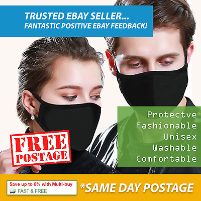 Face Mask Protective / UK Seller / Reusable Washable Breathable Cloth / Adult