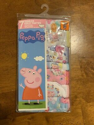 Peppa Pig Toddler Girls Panties Pack Of 7 NWT