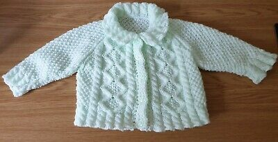 BRAND NEW - Hand Knitted Baby Cardigan to fit Age 6 to 12 Months Approx