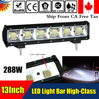 """13"""" 14 inch LED WORK LIGHT BAR FOR JEEP OFFROAD 4WD SUV CAR TRUCK BOAT ATV VS 20"""