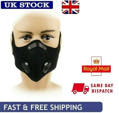 Face Mask Anti Pollution Cycling Sports Activated Carbon Filter Mask Headwear