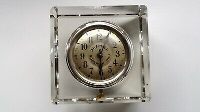 Vintage Premier Roderick Dhu Key Winding Clock In Glass Case