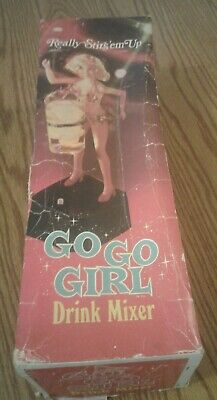 Vintage Go Go Girl Drink Mixer In Box Poyner Products 1969 Made In Japan