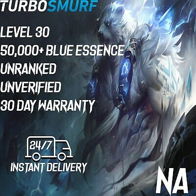 League of Legends Account NA Unranked & Unverified Smurf 50,000 - 60,000 BE