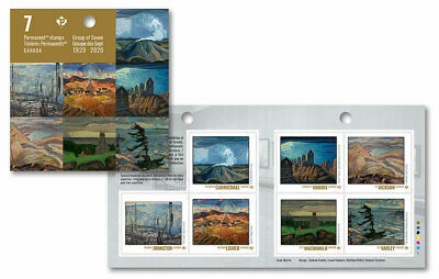 2020 Canada Group Of Seven Booklet Of 7 Stamps Art Landscape Canadian