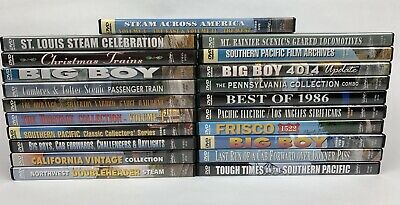 Lot of 22 Railroad Train DVD - Pentrex Union Pacific- Too Many Titles To List!!!