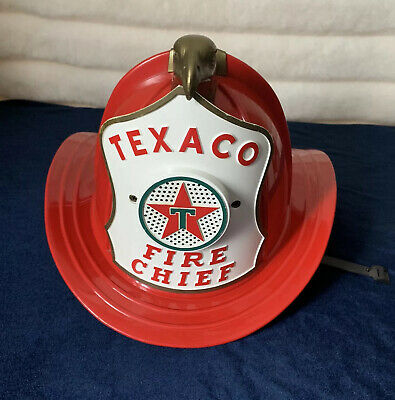VTG Texaco Fire Chief Hat Fireman w/microphone WORKS