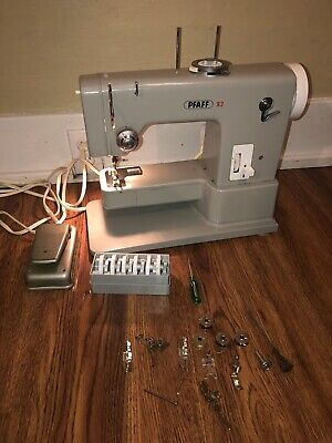 Vintage Pfaff 93 Electronic Sewing Machine Includes 7 Cams & Feet & Extra Bobbin