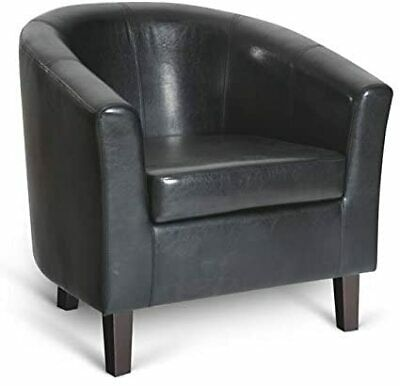 Hodedah Single Seater Barrel Chiar with Arms, Black