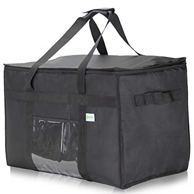 KIBAGA Commercial Insulated Food Delivery Bag XXL - 23 x 14 x 15 inches Delivery