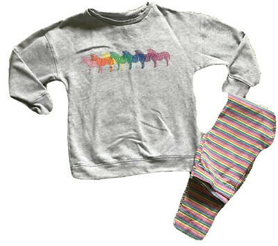 Girls Next Zebra Sweater And Leggings Set Age 9