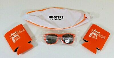 HOOTERS BEACH LOT: Sunglasses, 2 Can Coozies, Beach Ball