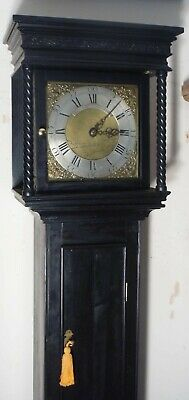 "Ebony Finish Case "" Callington ""  30 Hour  Longcase / Grandfather Clock"