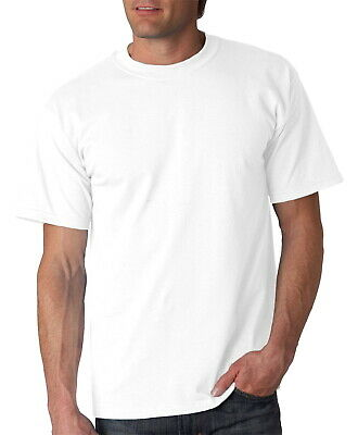 3 Or 6 Pack Mens 100% Cotton Soft Crew Neck White T-Shirts Undershirt Tee Large