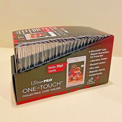 25x Ultra Pro One-Touch Magnetic Card Holders 35pt FACTORY SEALED - 35 PT POINT