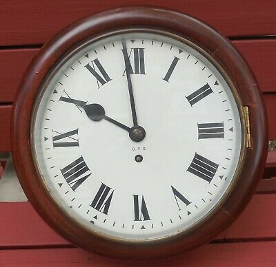 """Gpo General Post Office, Royal Mail 10"""" Dial, Fusee Clock 56T 12/3 England U.k."""