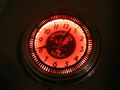 Vintage Spinner Neon clock Wurlitzer Jukebox Neon Clock sales Chicago,IL