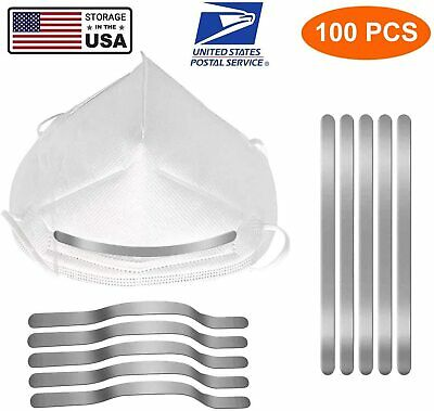 Aluminum Strips Nose Wire,Nose Bridge for Mask,90MM Metal Flat Nose Clips Nose B