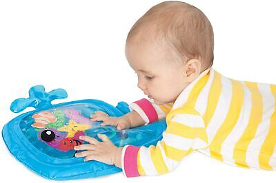 Infantino Pat And Play Water Mat Baby Tummy Time High Chair Learning Fun