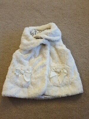 Girls Cream Faux Fur Gilet Age 12–18 Months
