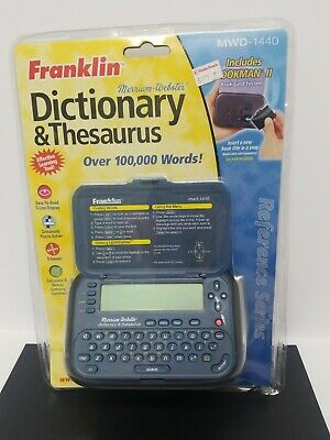 Franklin Merriam Webster  Dictionary & Thesaurus brand new