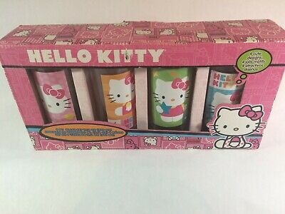 Set Of Four Sanrio HELLO KITTY Drinking Glasses  In box