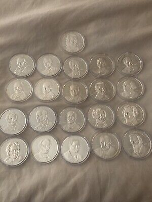 2000 Liberia $20 .999 Silver 20 grams US Presidents Coin Collection Set of 21