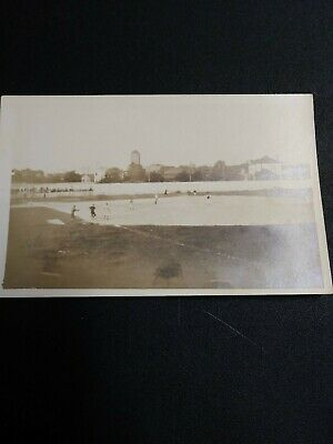 Very Old Early Baseball Players On Field Rppc Real Photo Postcard
