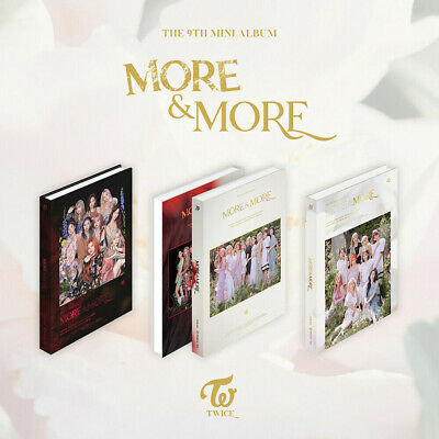 TWICE More & More 9th Mini Random CD + Photo Book + Photocard + Tracking Number