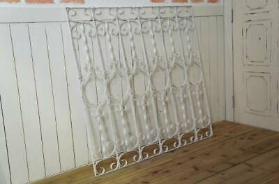 Antique Style Garden Iron Fence Screen Department Of Industry Cafe Shabby White
