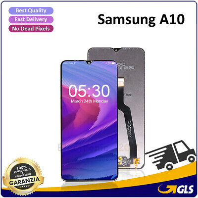 Lcd Display + Touch Screen Per Samsung Galaxy A10 2018 Sm-A105Fn A105Ds Nero