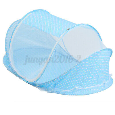 Foldable Folding Baby Mosquito Net Travel Bed Crib Canopy Beach Mesh Tent Blue