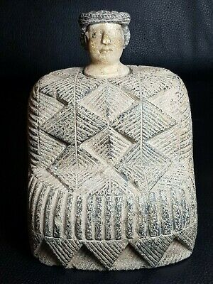 Ancient bactrian rare wonderful composite chloride stone prince statue