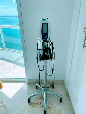 Welch Allyn Spot Vital Signs 420 Monitor With Rolling Stand + Basket