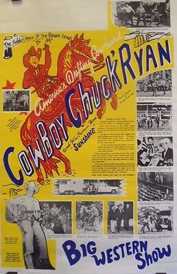 Cowboy Chuck Ryan | Orig. 1960s Western Music Promotion Poster
