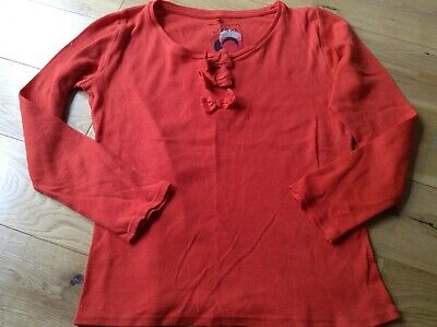 10 Years Girl Designer Next Red Long Sleeve T-Shirt Top with Bows
