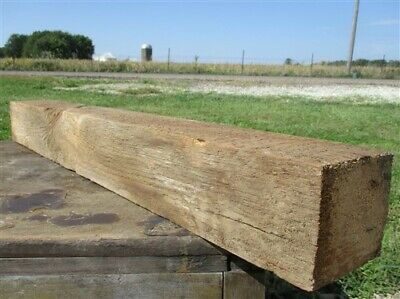 Reclaimed Barn Beam Wood Shelf, Architectural Salvage Fireplace Mantle a24,