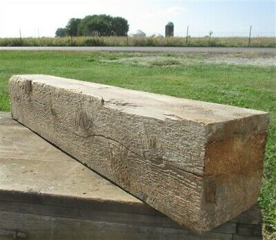 Reclaimed Barn Beam Wood Shelf, Architectural Salvage Fireplace Mantle a40,
