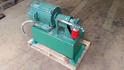 Hydraulic Power Unit, Pump and Reservior, 15 HP, 20+/- Gallons Tank